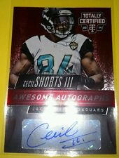 2014 Totally Certified Football CECIL SHORTS III Awesome Autographs JAGUARS