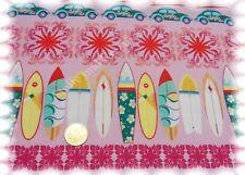 Surf Stripe rosa Baumwolle Popeline Flower Power Hilco Webware 50 cm
