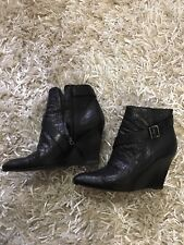 Givenchy Wedge Black Ankle Boots US size 7