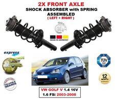 FOR VW GOLF V 1.4 16V 1.6 FSi 2003-2008 2X FRONT LEFT RIGHT SHOCK ABSORBERS SET