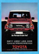 QUATTROR988-PUBBLICITA'/ADVERTISING-1988- TOYOTA BJ73TD