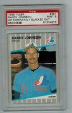 1989 Fleer #381 Randy Johnson Rookie HOF PSA 9 MINT no Marlboro ad blacked out