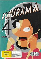 Futurama SEASON 4 Brand New but UNSEALED 4-DVD SET Region 4