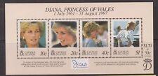 1998 Princess Diana Memorial Stamp Sheet MNH Cayman Islands SG MS858