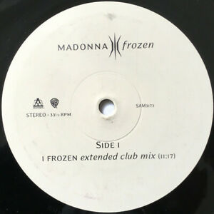 """Madonna – Frozen (Extended Club Mix). 12"""". 3 Track Promo. Mint"""