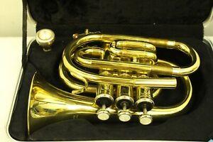 Vintage Karl Glaser Standard Line Brass Flugelhorn Horn With Case