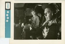 GEORGE C KENNEY WESLEY LAU B-29 COCKPIT FLIGHT ORIGINAL 1958 TV PRESS PHOTO