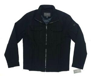 Michael Kors Mens Guildford Black Windbreaker Jacket Size Medium
