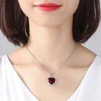 Herz Halskette  Geburtsstein Anhänger Silber mit Zirkon Kristallen