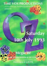 TIME VOX OZ Rave Flyer Flyers 10/7/93 A4 Megacite Amiens France