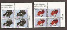 Andorra, Spanish Administration, Scott 303-304, MNH, 2 Blcks of 4,
