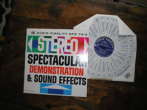 STEREO SPECTACULAR DEMO & SOUND EFFECTS LP RARE LP DFS 7013 EXC