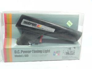 Vintage Actron D.C. Power Timing Light Black Model L-100 Orig Box w/ Manual