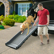 Foldable Dog Ramp for Car Truck SUV Backseat Stair Steps Auto Travel Ladder Pet