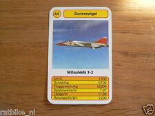12 DONNERVOGEL AIRPLANES A3 MITSUBISHI T-2 KWARTET KAART, QUARTETT