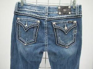 M9277 VTG Women's Miss Me Boot Cut Denim Jeans Size 32