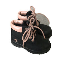 Timberland Toddler Black Suede Leather Girls Boots Timberland's Shoes US 7
