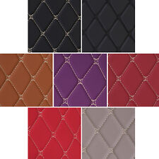 Faux Leather Foam Fabric Diamond Quilted Auto Headliner Upholstery, Sold by Yard
