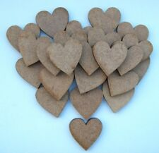 25 x MDF wooden 25mm laser cut out hearts, craft making, painting, embellishment