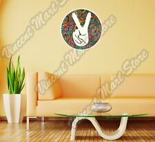 """Peace Hippie Love Victory V Sign Gift Wall Sticker Room Interior Decor 22"""""""