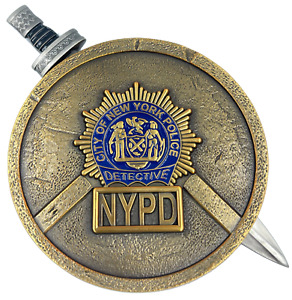 BL4-008 NYPD New York City Police Department Detective Shield with removable Swo
