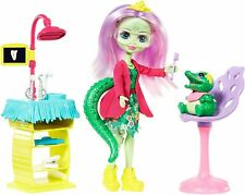 🚛Fast Shipping! {NEW} Enchantimals Smilin Dentist  Andie Alligator Doll Playset
