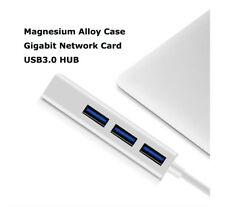 3 Ports USB3.0+RJ45 Gigabit Ethernet LAN Network Adapter HUB for Laptop Tablet