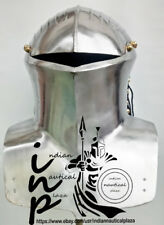 Wearable Royal Guard Close Helm Medieval Crusader Knight Steel Helmet LARP