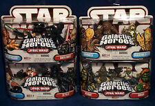 NEW Star Wars GALACTIC HEROES Lot UNMASKED DARTH VADER Weequay BARADA Tie Pilot