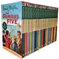 Famous Five by Enid Blyton 21 Exciting Adventures Collection Books Library
