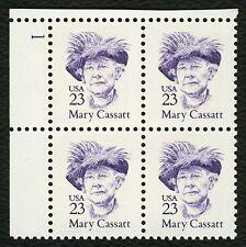 #2181 23c Mary Cassatt, Plate Block, Mint **ANY 4=FREE SHIPPING**