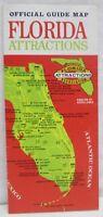 Vintage Official Guide Map Florida Attractions Brochure Travel Maps Souvenir
