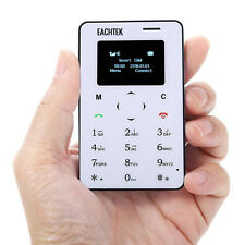 EACHTEK Unlocked GSM Smallest Mini Card Mobile Phone with Bluetooth and FM Radio
