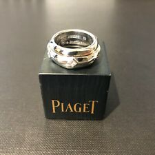 Piaget 18ct White Gold Hexagonal Ring with 6 Diamonds