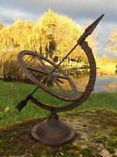 More details for cast iron armillary sundial weathervane compass garden ornament statue 🌞