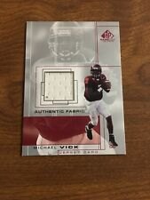 2001 Michael Vick SP Game Used Edition Authentic Fabric RC Rookie