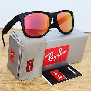 Ray-Ban Justin Wayfarer Red Mirror Sunglasses RB4165 622/6Q 54-16