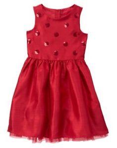 NWT Gymboree ROYAL RED Sequin Duppioni Dress 4,5,6,7,8 Christmas Girls