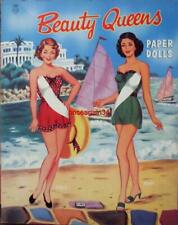 VINTAGE UNCUT 1950's BEAUTY QUEENS PAPER DOLLS~#1 REPRODUCTION~WITH EXTRA COVERS