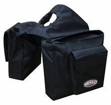 Showman Nylon Insulated Horn Bag Storage Pockets Velcro Closure New Tack - BLACK