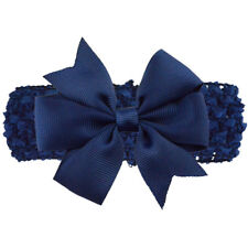 Baby Girl Elastic Knitted Headbands Infant Toddler Knotted Hairbands Bows,Navy