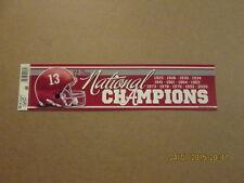 NCAA Alabama 13-Time National Champions Bumper Sticker