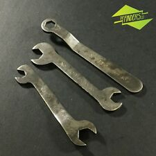 SET x3 VINTAGE MAGNETO OR BRAKE SERVICE WRENCHES C5309-50 CAR MOTORCYCLE TOOLS