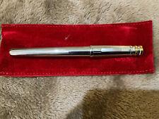 Trinity de Cartier Silver Plated Body Platinum Trim Fountain Pen M Nib ST210004
