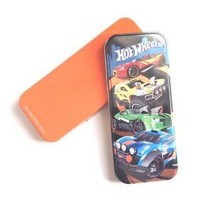 Mattel Hot Wheels Cars Pencil Tin Case Hot Wheels boys stocking filler Orange