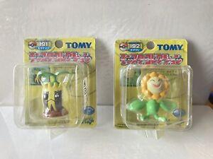 Rare Yellow Box Series Opened TOMY Sunkern Sunflora Pokemon Figure #191 #192