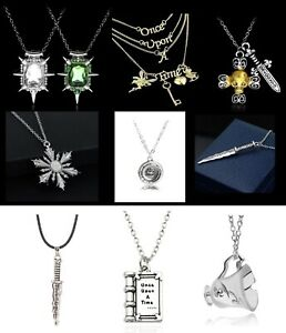 Once Upon a Time Swan Belle Anna Rumpelstiltskin Zelina Hook Necklace & Gift Bag