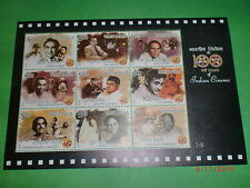 """-STAMPS INDIA-SET OF 6 MINI.SHEETS-""""100 YEARS-INDIAN CINEMA""""- 54 GUM MINT STAMPS"""