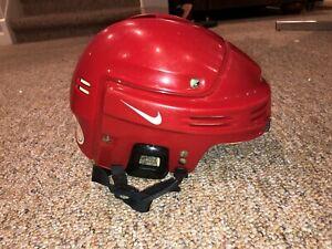 Vintage Nike Hockey Helmet HH0001L Red Large