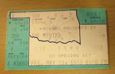 1983 STYX OKLAHOMA CITY CONCERT TICKET STUB KILROY WAS HERE TOUR TOMMY SHAW BABE